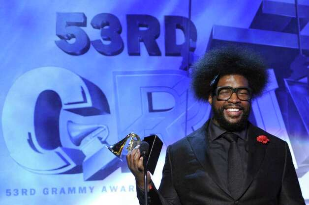 LOS ANGELES, CA - FEBRUARY 13:  Musician questlove of The Roots accepts the Best R&B Album Award onstage during The 53rd Annual GRAMMY Awards held at Staples Center on February 13, 2011 in Los Angeles, California.  (Photo by Kevin Winter/Getty Images) *** Local Caption *** questlove Photo: Kevin Winter, Getty Images / 2011 Getty Images