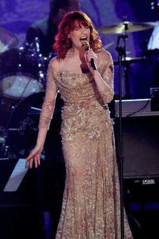 LOS ANGELES, CA - FEBRUARY 13:  Singer Florence Welch performs onstage during The 53rd Annual GRAMMY Awards held at Staples Center on February 13, 2011 in Los Angeles, California.  (Photo by Kevin Winter/Getty Images) *** Local Caption *** Florence Welch Photo: Kevin Winter, Getty Images / 2011 Getty Images