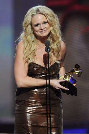 LOS ANGELES, CA - FEBRUARY 13:  Singer Miranda Lambert, accepts the Best Female Country Vocal Performance award onstage during The 53rd Annual GRAMMY Awards held at Staples Center on February 13, 2011 in Los Angeles, California.  (Photo by Kevin Winter/Getty Images) *** Local Caption *** Miranda Lambert Photo: Kevin Winter, Getty Images / 2011 Getty Images