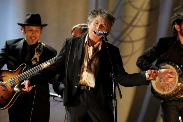 LOS ANGELES, CA - FEBRUARY 13:  Musician Bob Dylan performs onstage during The 53rd Annual GRAMMY Awards held at Staples Center on February 13, 2011 in Los Angeles, California.  (Photo by Kevin Winter/Getty Images) *** Local Caption *** Bob Dylan Photo: Kevin Winter, Getty Images / 2011 Getty Images