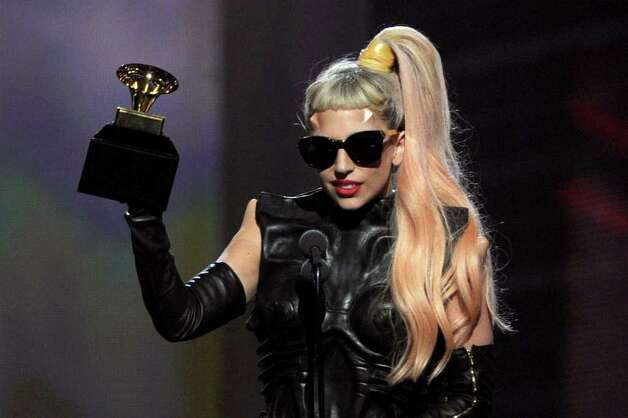 "LOS ANGELES, CA - FEBRUARY 13:  Singer Lady Gaga accepts the Best Pop Vocal Album award for ""The Fame Monster"" onstage during The 53rd Annual GRAMMY Awards held at Staples Center on February 13, 2011 in Los Angeles, California.  (Photo by Kevin Winter/Getty Images) *** Local Caption *** Lady Gaga Photo: Kevin Winter, Getty Images / 2011 Getty Images"