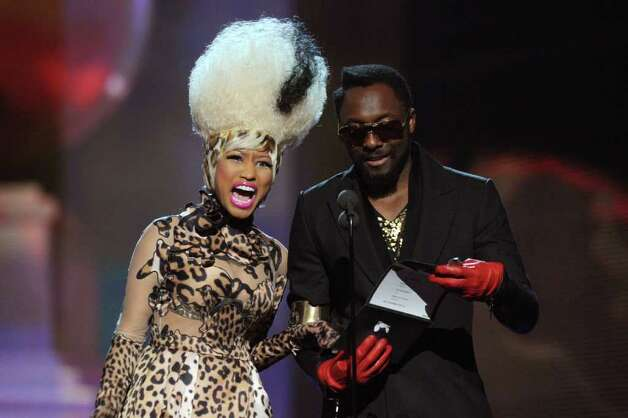 LOS ANGELES, CA - FEBRUARY 13:  Rappers Nicki Minaj and will.i.am speak onstage during The 53rd Annual GRAMMY Awards held at Staples Center on February 13, 2011 in Los Angeles, California.  (Photo by Kevin Winter/Getty Images) *** Local Caption *** will.i.am Photo: Kevin Winter, Getty Images / 2011 Getty Images