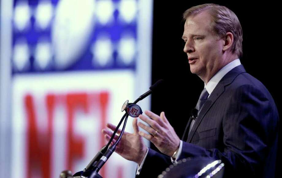 """Commissioner Roger Goodell says NFL fans don't care about the details of an owners vs. players labor fight but just want to be able to watch football, """"the great game they love."""" Photo: DAVID J. PHILLIP, ASSOCIATED PRESS"""