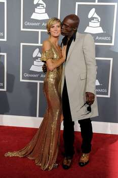 Heidi Klum, left, and Seal arrive at the 53rd annual Grammy Awards on Sunday, Feb. 13, 2011, in Los Angeles. (AP Photo/Chris Pizzello) Photo: Chris Pizzello, STF