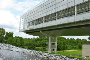 The Clinton Presidential Library and Museum is near the bank of the Arkansas River in Little Rock, Ark.
