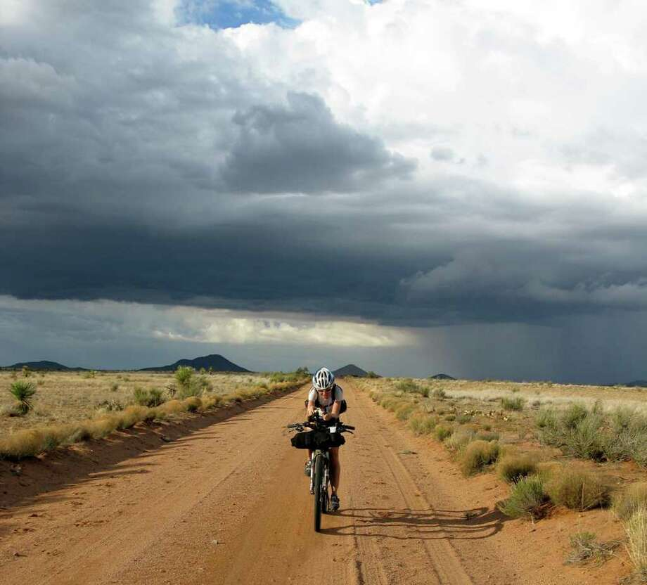 """Ride the Divide"" documentary. photo of Mary in new mexico. / DirectToArchive"