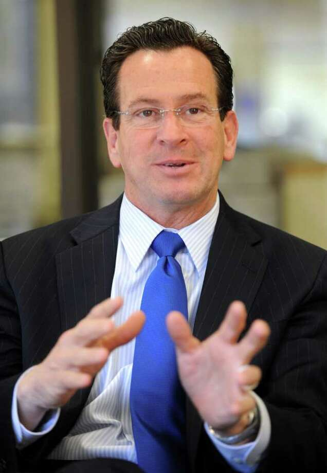 Gov. Dannel P. Malloy answers questions during an editorial board interview at the Connecticut Post in Bridgeport, Conn. Thursday, Feb. 03, 2011. Photo: Autumn Driscoll, ST / Connecticut Post