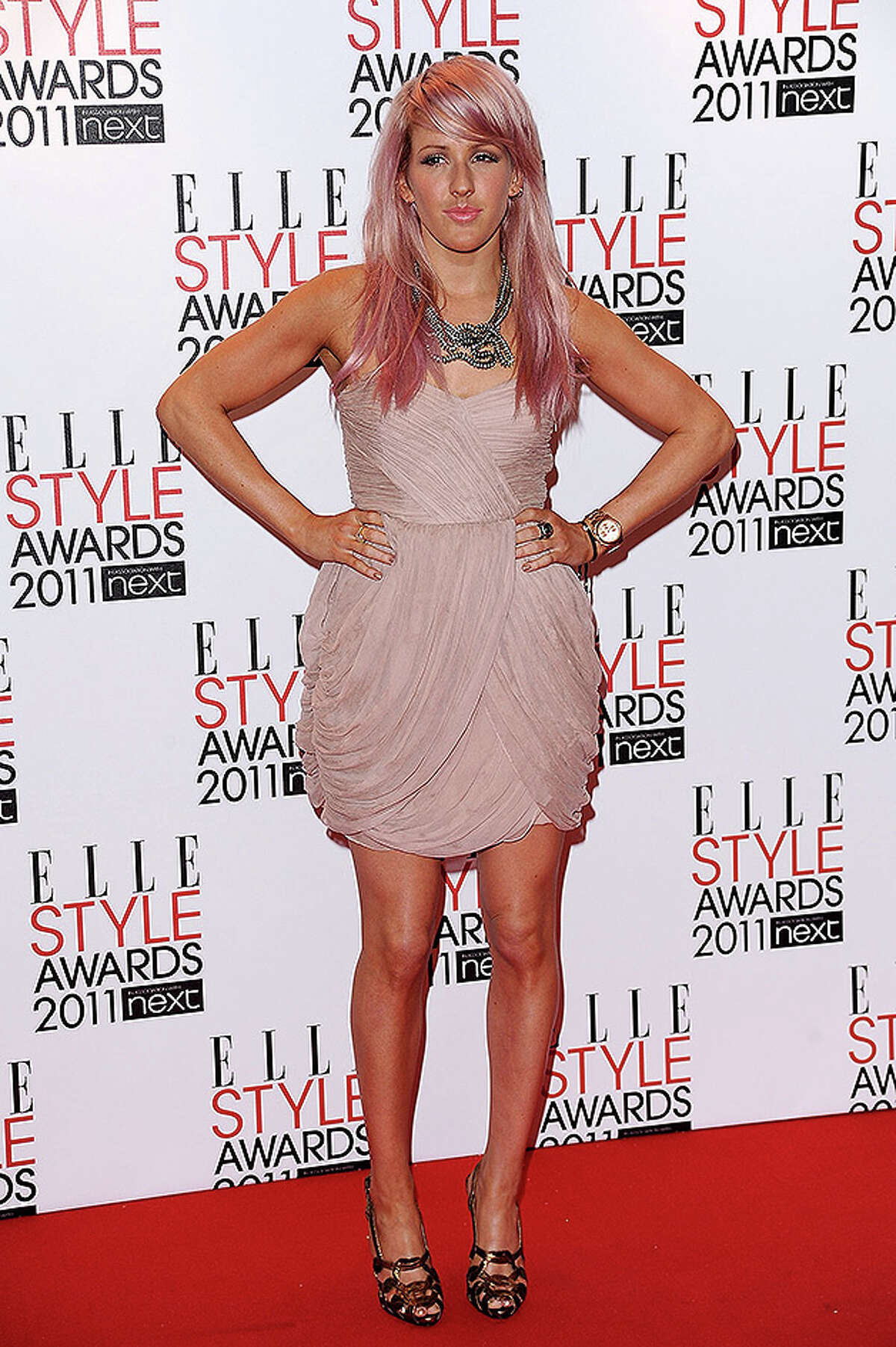 LONDON, ENGLAND - FEBRUARY 14: Singer Ellie Goulding attends the 2011 ELLE Style Awards at the Grand Connaught Rooms on February 14, 2011 in London, England. (Photo by Ian Gavan/Getty Images) *** Local Caption *** Ellie Goulding