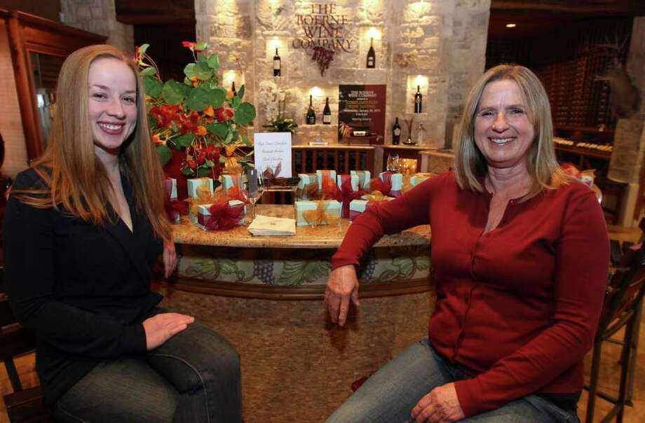 Alison Turner (left) and Peggy Cloar (right) run the High Street Chocolate Co. in Comfort, and sell their chocolate online and at shops such as the Boerne Wine Company. Photo: JOHN DAVENPORT, SAN ANTONIO EXPRESS-NEWS / jdavenport@express-news.net
