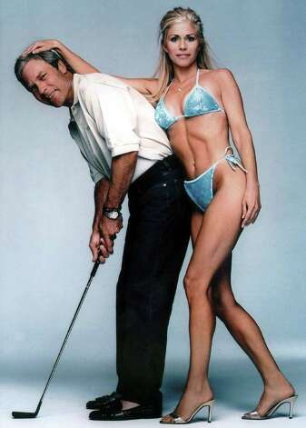 Ben and Julie Crenshaw are shown in the 2000 Sports Illustrated swimsuit issue. Photo: AP / SPORTS ILLUSTRATED