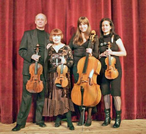 Members of the Lumina String Quartet Boris Deviatov, viola; Asya Meshberg, violin; Jennifer DeVore, cello; and Lynn Bechtold, violin, will perform at the Ferguson Library in Stamford at 2 p.m., Saturday Feb. 19. The concert is free. Photo: Contributed Photo / Stamford Advocate Contributed