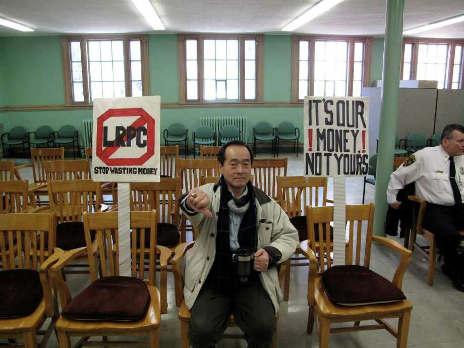 Fred Chang shows his disapproval of the LRPC. Photo: Contributed Photo;Paresh Jha Staff Photo, Contributed Photo / New Canaan News