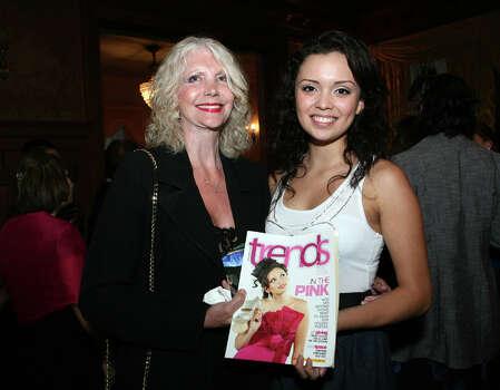 Caroline Haggard Flores, executive director of the Miss Bexar County Organization Inc., with Miss San Antonio Domonique Ramirez. Photo: Special To The Express-News