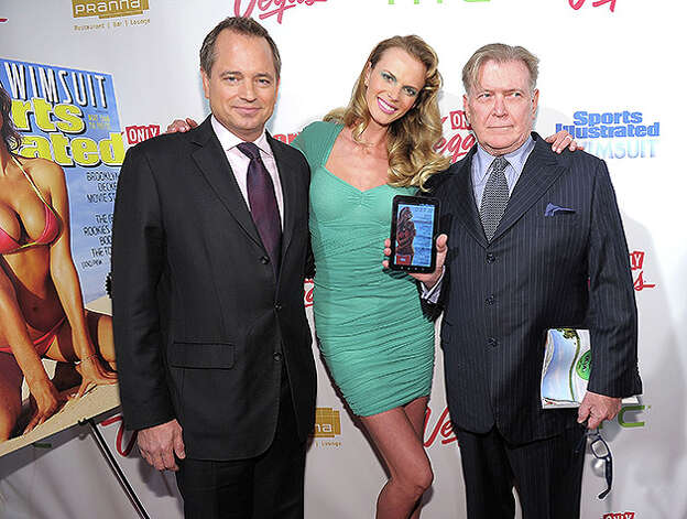 NEW YORK, NY - FEBRUARY 15:  (L-R) President of Sports Illustrated Group Mark Ford, model Anne V, and editor of Sports Illustrated Group Terry McDonnell attend the SI Swimsuit Launch Party hosted By Pranna at Pranna Restaurant on February 15, 2011 in New York City.  (Photo by Michael Loccisano/Getty Images for Sports Illustrated) *** Local Caption *** Mark Ford;Terry McDonnell;Anne V Photo: Michael Loccisano, Getty Images For Sports Illustra / 2011 Getty Images