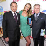 NEW YORK, NY - FEBRUARY 15:  (L-R) President of Sports Illustrated Group Mark Ford, model Anne V, and editor of Sports Illustrated Group Terry McDonnell attend the SI Swimsuit Launch Party hosted By Pranna at Pranna Restaurant on February 15, 2011 in New York City.  (Photo by Michael Loccisano/Getty Images for Sports Illustrated) *** Local Caption *** Mark Ford;Terry McDonnell;Anne V