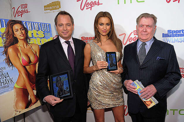 NEW YORK, NY - FEBRUARY 15: (L-R) President of Sports Illustrated Group Mark Ford, model Irina Shayk, and editor of Sports Illustrated Group Terry McDonnell attend the SI Swimsuit Launch Party hosted By Pranna at Pranna Restaurant on February 15, 2011 in New York City.  (Photo by Michael Loccisano/Getty Images for Sports Illustrated) *** Local Caption *** Mark Ford;Terry McDonnell;Irina Shayk Photo: Michael Loccisano, Getty Images For Sports Illustra / 2011 Getty Images