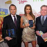 NEW YORK, NY - FEBRUARY 15: (L-R) President of Sports Illustrated Group Mark Ford, model Irina Shayk, and editor of Sports Illustrated Group Terry McDonnell attend the SI Swimsuit Launch Party hosted By Pranna at Pranna Restaurant on February 15, 2011 in New York City.  (Photo by Michael Loccisano/Getty Images for Sports Illustrated) *** Local Caption *** Mark Ford;Terry McDonnell;Irina Shayk