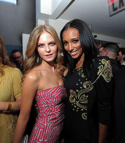 NEW YORK, NY - FEBRUARY 15:  Models Jessica Perez and Jasmine Tookes attend the SI Swimsuit Launch Party hosted By Pranna at Pranna Restaurant on February 15, 2011 in New York City.  (Photo by Michael Loccisano/Getty Images for Sports Illustrated) *** Local Caption *** Jasmine Tookes;Jessica Perez Photo: Michael Loccisano, Getty Images For Sports Illustra / 2011 Getty Images