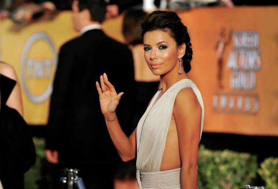 Eva Longoria arrives at the 17th Annual Screen Actors Guild Awards on Sunday, Jan. 30, 2011 in Los Angeles. Photo: AP