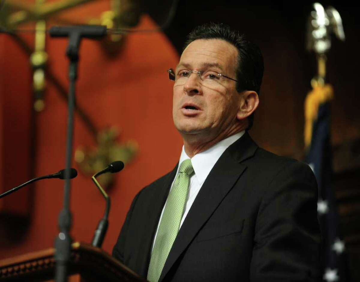 Governor Dannel P. Malloy presents his budget address to a joint session of the General Assembly in Hartford on Wednesday, Feb. 16, 2011.
