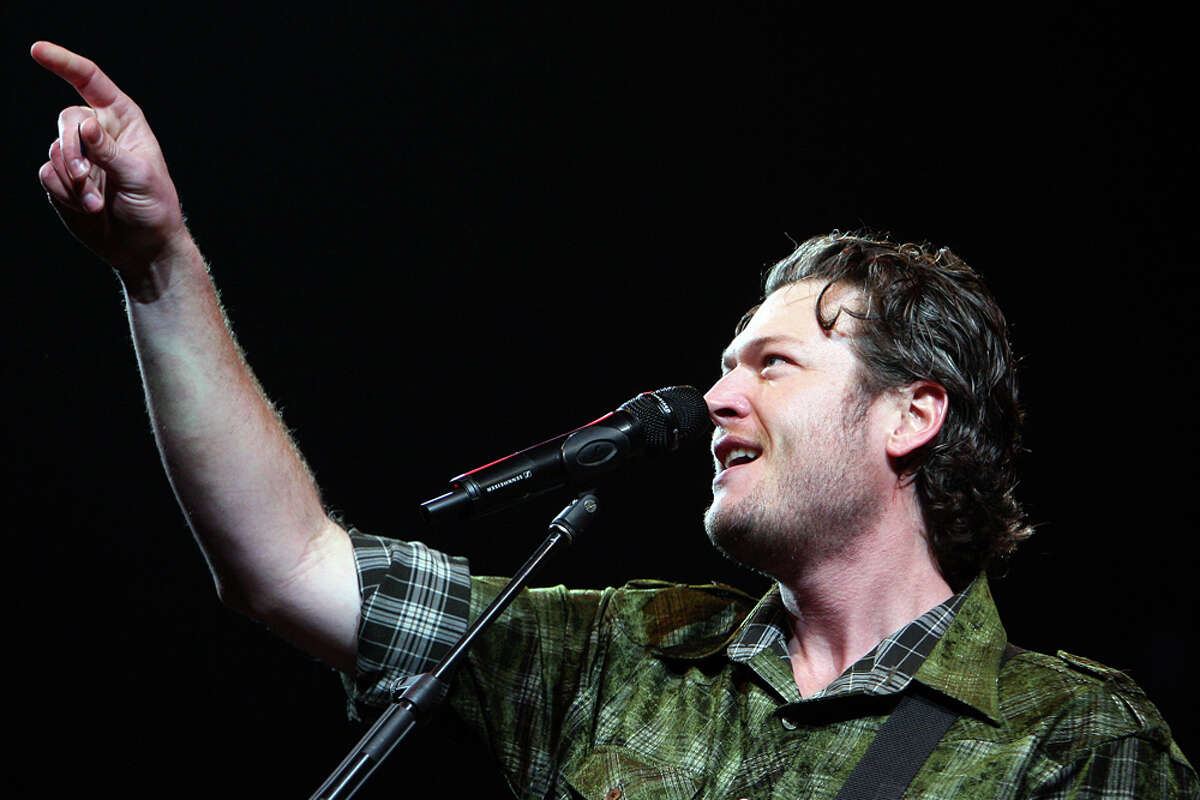 Blake Shelton gave a Valentine's Day performance last year at the San Antonio Stock Show & Rodeo. EXPRESS-NEWS FILE PHOTO