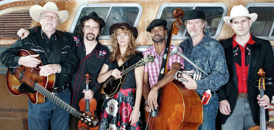 Austin band Will Taylor & Strings Attached (Steve Carter, (from left) Will Taylor, Karen Mal, Michael Stevens, Stephen Zirkel and John Dexter, bring their House of Wills show to San Antone Café & Concerts on Friday. COURTESY KARIEM ALI