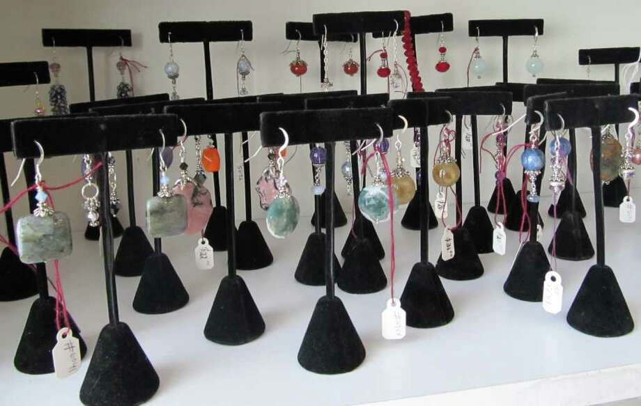 Therapeutic crystal jewelry sold at My Personal Wellness. Photo: Contributed Photo / Fairfield Citizen contributed