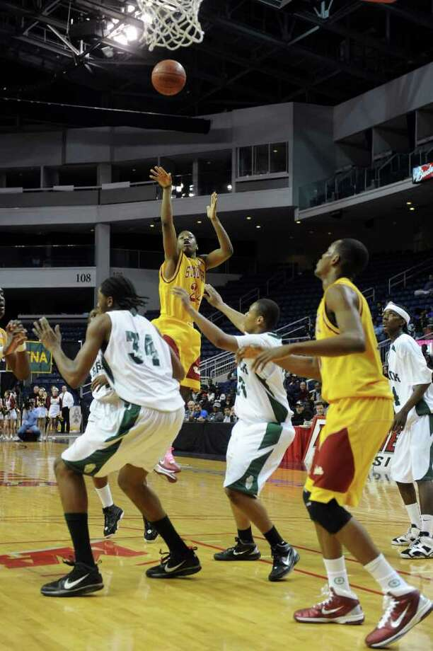 St. Joseph plays against Bassick High School during Thursday's game at Webster Bank Arena at Harbor Yard on February 17, 2011. Photo: Lindsay Niegelberg / Connecticut Post