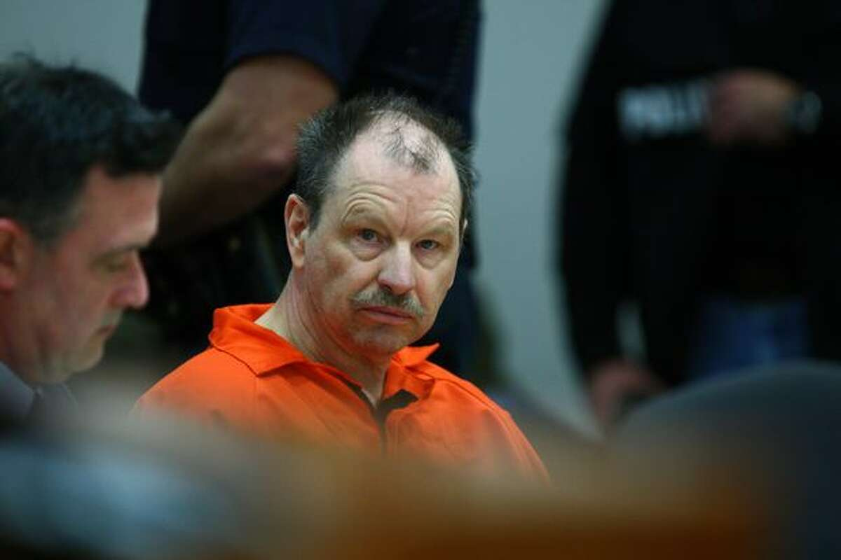 Gary Leon Ridgway, also known as the Green River Killer, in the courtroom of Judge Mary E. Roberts.