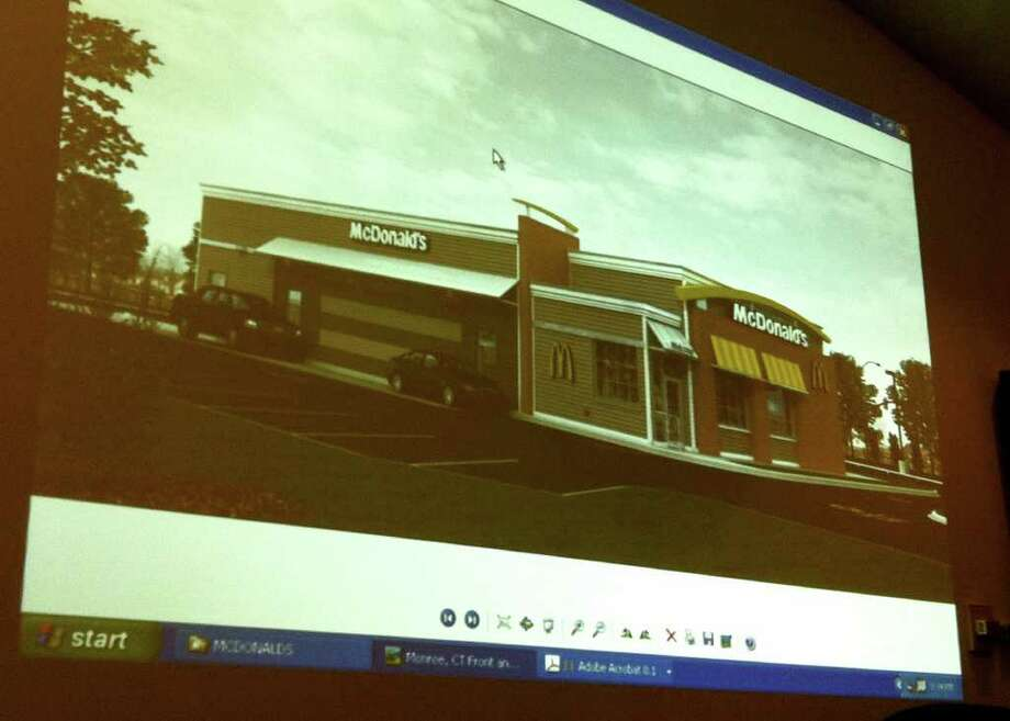 "McDonald's added a cornice and brick siding to it's proposed building to give the storefront a more ""colonial"" look. Photo: Contributed Photo / Connecticut Post"