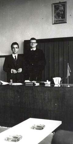 David Hopkins, of Sherman, right, photographed while teaching in Turkey with the Peace Corps in the early 1960s. Photo: Contributed Photo / The News-Times Contributed