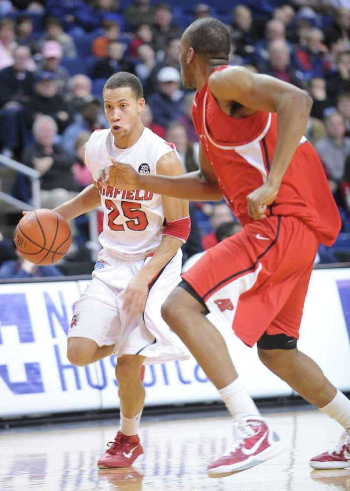 Fairfield University hosts Austin Peay at the Webster Bank Arena at Harbor Yard in Bridgeport, Conn. Saturday, Feb. 19, 2011.