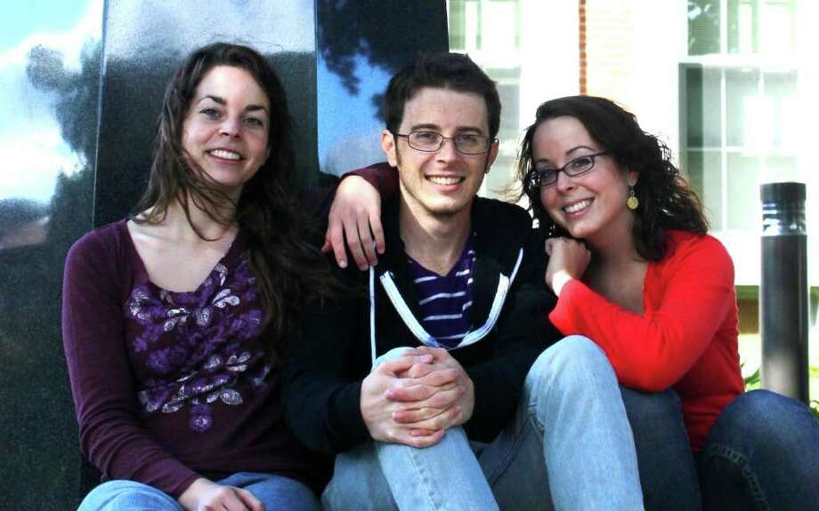 Triplets fromj Latham, from left, Mellissa Cross, Adam Cross and Paige Cross, all 22, are set to graduate from Colgate University this spring. (Photo by Paige Cross)