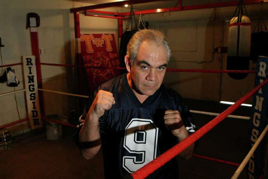 José Cabrera, friend and former sparring partner of the late Salvador Sanchez, will work in his son José Cabrera Jr.'s corner. Photo: HELEN L. MONTOYA, Hmontoya@express-news.ent / hmontoya@express-news.net