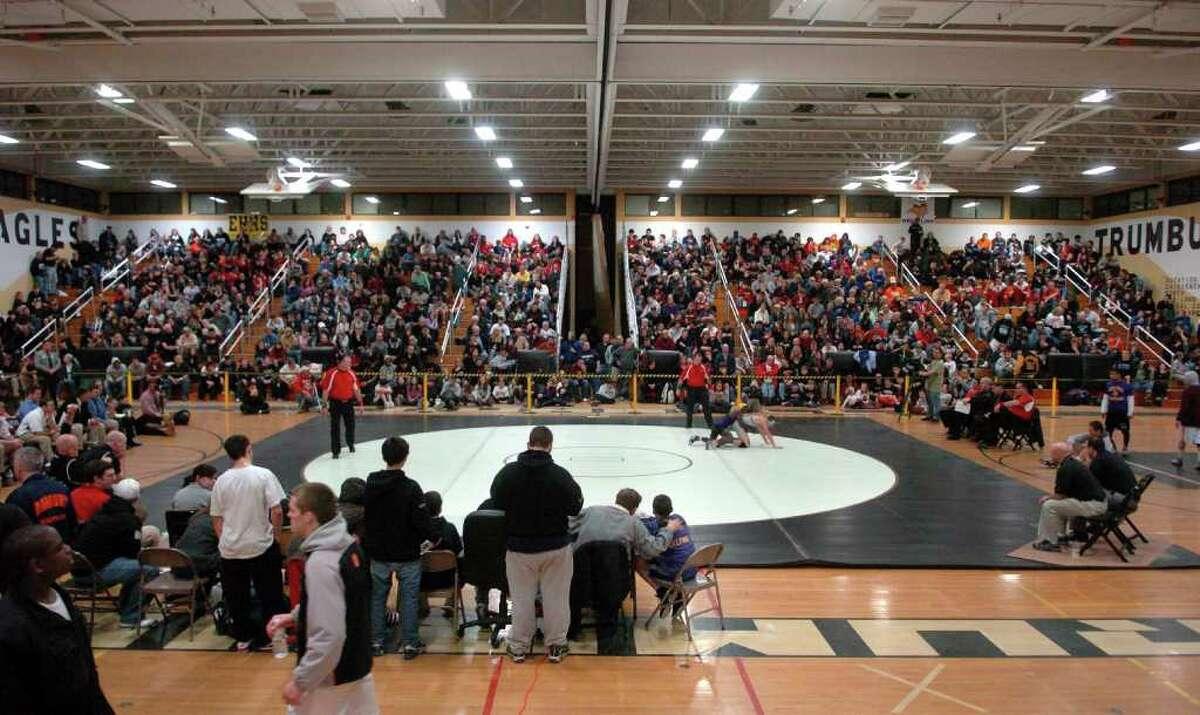 CIAC Class LL Wrestling Tournament in Trumbull, Conn. on Saturday February 19, 2011.