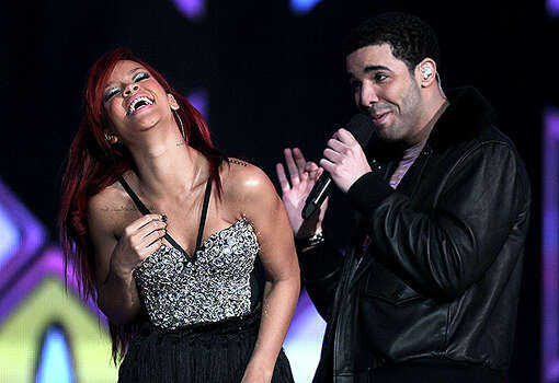 LOS ANGELES, CA - FEBRUARY 20:  Singer Rihanna (L) and rapper Drake perform during the 2011 NBA All-Star game halftime show at Staples Center on February 20, 2011 in Los Angeles, California. NOTE TO USER: User expressly acknowledges and agrees that, by downloading and or using this photograph, User is consenting to the terms and conditions of the Getty Images License Agreement.  (Photo by Jeff Gross/Getty Images) *** Local Caption *** Rihanna;Drake Photo: Jeff Gross, Getty Images / 2011 Getty Images