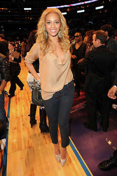 LOS ANGELES, CA - FEBRUARY 20:  Singer Beyonce Knowles poses during the 2011 NBA All-Star game at Staples Center on February 20, 2011 in Los Angeles, California. NOTE TO USER: User expressly acknowledges and agrees that, by downloading and or using this photograph, User is consenting to the terms and conditions of the Getty Images License Agreement.  (Photo by Jason Merritt/Getty Images) *** Local Caption *** Beyonce Knowles Photo: Jason Merritt, Getty Images / 2011 Getty Images