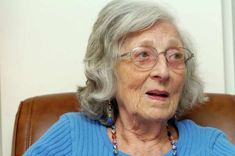 Elizabeth Goldfarb, who was part of the Kindertransport from Germany to England when she was 17, at home at Edgehill, a retirement community, in Stamford, Conn. on Monday February 21, 2011. Photo: Dru Nadler / Stamford Advocate Freelance