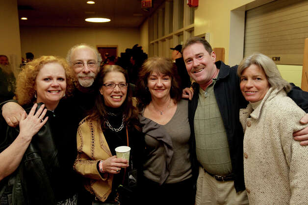 Family and friends gathered during a memorial event for Michael Potashnick at the University of Bridgeport Bernard Arnold Art Center on February 20, 2011.  Potashnick, who passed away in 2011, was the Production, Stage and Site Manager at the Flynn Center for the Performing Arts, Burlington Discover Jazz Festival, Lake Champlain Maritime Festival, Burlington's First Night and the Gathering of the Vibes Music and Arts Festival in Bridgeport, CT. Photo: Peter Caty / Connecticut Post