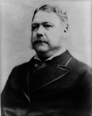 Chester A. Arthur — A gourmet exceeded only by Jefferson, Arthur's formal dinners featured foods cooked in the latest Parisian styles of the day, with six high-quality wines served throughout the meal. His favorite meal was a mutton chop with a glass of ale, or a slice of rare roast beef with hot baked potatoes and fruits, accompanied by a glass of claret. Photo: Express-News / AMERICAN MEMORY COLLECTION