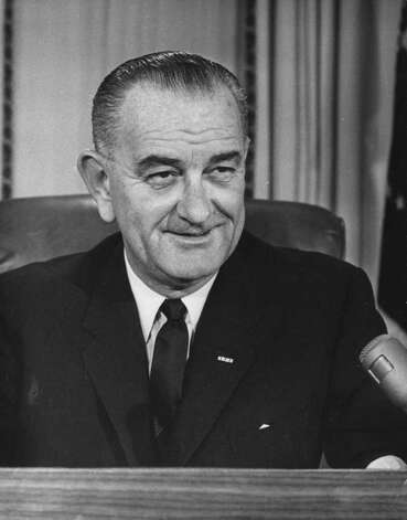 36. Lyndon B. Johnson, 1963-1969 (Photo by Central Press/Getty Images) / Hulton Archive