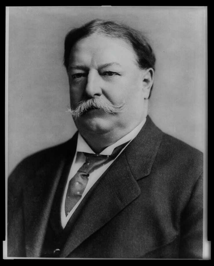 "William Howard Taft — At 6'2"" and 332 pounds, Taft was put on a diet by his doctor. This meant trimming the size of his beloved breakfast steak — from 12 to 8 ounces. First lady Helen Taft reinstituted a custom of Andrew Johnson and kept a cow on the White House grounds for the freshest milk possible. Photo: Express-News / AMERICAN MEMORY COLLECTION"