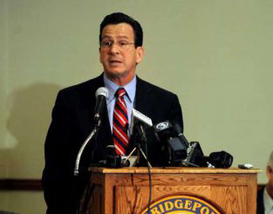 Gov. Dannel P. Malloy takes part in a town hall meeting in City Hall Annex in Bridgeport, Conn. Feb. 21, 2011. The meeting was the first of 17 Malloy has planned around the state. Photo: File Photo / New Canaan News