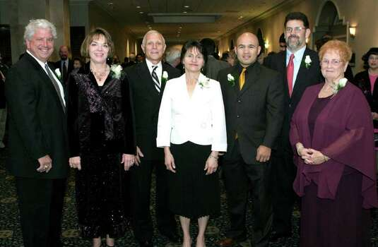 OTS/BROTHERS - Michael Specia, Lucy Williams, Robert Niehoff, Jo Ann Hagemeier, Jesse James Leija, John Stephens and Sister Sally Mitchell (all honorees) were at the Omni Hotel on 2/4/2006 for the Catholic Education Awards dinner. names checked photo by leland a. outz Photo: LELAND A. OUTZ, SPECIAL TO THE EXPRESS-NEWS / SAN ANTONIO EXPRESS-NEWS