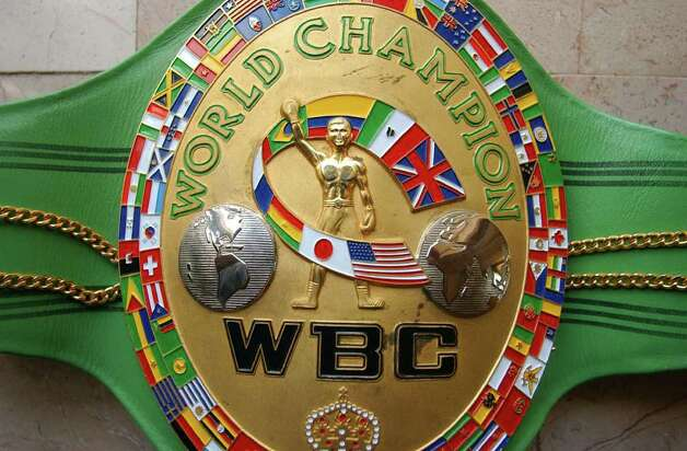 FOR SALIFE   - Detail shot of Jesse James Leija's WBC World Title Belt at his home Sunday Feb. 27, 2005. PHOTO BY EDWARD A. ORNELAS/STAFF Photo: EDWARD A. ORNELAS, SAN ANTONIO EXPRESS-NEWS / SAN ANTONIO EXPRESS-NEWS