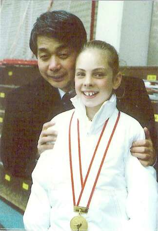 """One of my gold medals with my Japanese coach, Mr. Nobuo Sato,"" says Ruh. Photo: Contributed Photo / Greenwich Citizen"