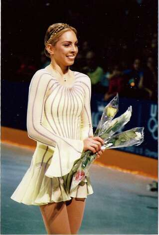 Lucinda Ruh celebrates her success at the World Professional Championships in 2001. Photo: Contributed Photo / Greenwich Citizen