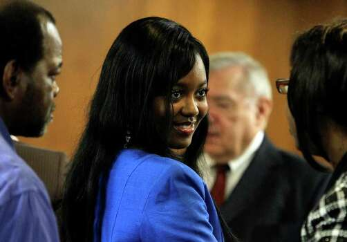 Ashley Dixon was Miss S.A. until the Domonique Ramirez suit was decided. Photo: Kin Man Hui/Express-News / San Antonio Express-News