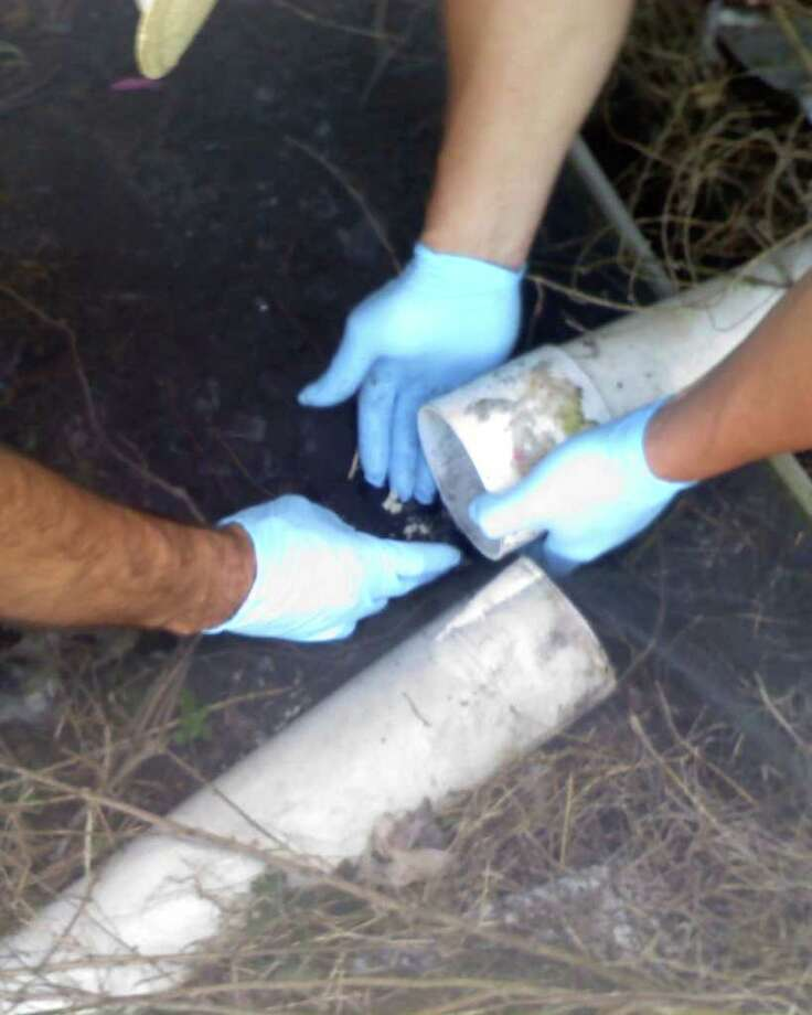 Deputy Hancock and Sheriff Walker recovered 42 rocks of crack cocaine from the water pipes of O'Neal's home. Photo: Courtesy Photo