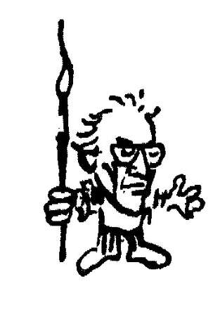 Hy Rosen's signature caricature of himself from his editorial cartoons.